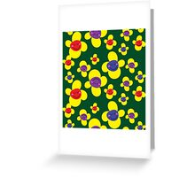 Smiley Sunflowers Greeting Card