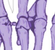 Rock On Skeleton Hand Sticker