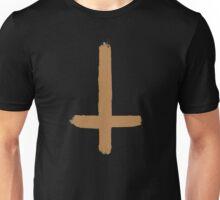INVERTED CROSS - BROWN Unisex T-Shirt