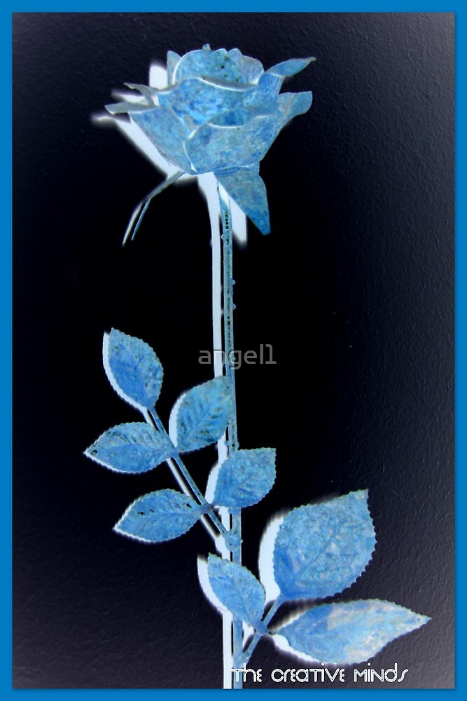"Blue Rose featured in ""Inspired Art"" & ""Elegant Rose Cards"" by ©The Creative  Minds"