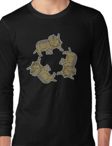Triceratop Triskelion  Long Sleeve T-Shirt