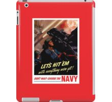 Choose The Navy -- WW2 Recruiting iPad Case/Skin