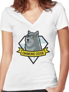 Diamond Doge Women's Fitted V-Neck T-Shirt