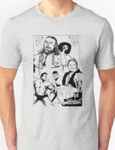 Puroresu Comic - Bruiser Brody, Stan Hansen, Antonio Inoki Unisex T-Shirt