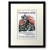 They Fought For Freedom We Fight To Keep It -- WWII Framed Print