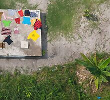 Laundry drying in Monrovia, Liberia by Christopher Herwig