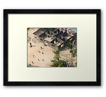 Football game in Monrovia, Liberia Framed Print