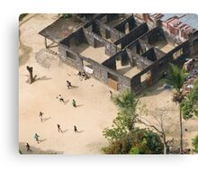 Football game in Monrovia, Liberia Canvas Print