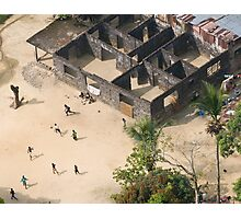 Football game in Monrovia, Liberia Photographic Print