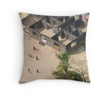 Football game in Monrovia, Liberia Throw Pillow