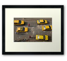 Taxis on Broad Street in Monrovia, Liberia Framed Print
