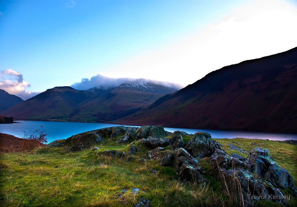 Scafell Pike - Across WastWater by Trevor Kersley