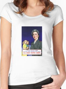 US Cadet Nurse Corps - WW2 Women's Fitted Scoop T-Shirt