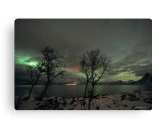 Aurora Borealis and clouds Canvas Print