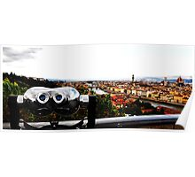 Cityscape, view of Florence from above - Italy Poster