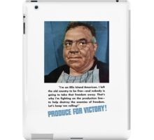 Produce For Victory -- World War Two iPad Case/Skin