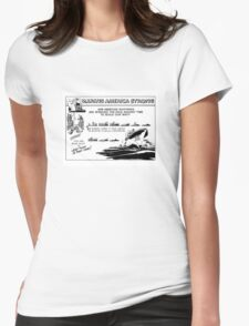 Making America Strong Cartoon -- WWII Womens Fitted T-Shirt