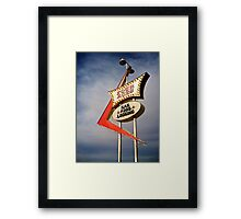 Four Aces motel Framed Print