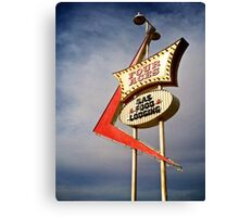 Four Aces motel Canvas Print