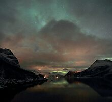 Aurora Borealis / North Light at Kvaløya island, Norway by Frank Olsen