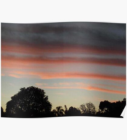 Sunset Relief - Scorching Day Poster