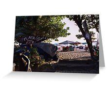 Playa Beach Bar Seminyak Bali Greeting Card