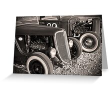 Flatheads and Whitewalls Greeting Card