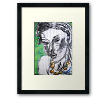 Worry Beads 'n Pretty Woman Framed Print