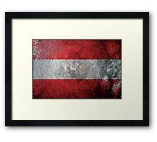 Austria Grunge Framed Print