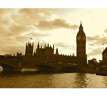 Westminster Sepia Photographic Print