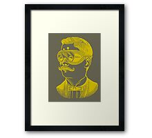 Vintage man in goggles Framed Print