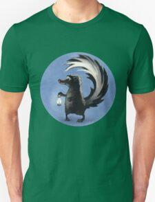 Cute Skunk Holding Lantern! T-Shirt