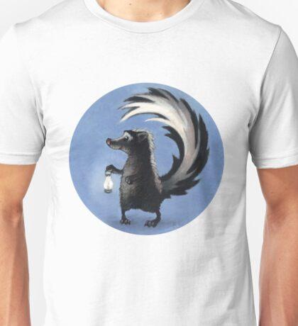 Cute Skunk Holding Lantern! Unisex T-Shirt