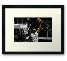 Flying toward the hoop - Dunk Framed Print