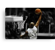 Flying toward the hoop - Dunk Canvas Print
