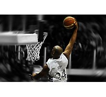 Flying toward the hoop - Dunk Photographic Print