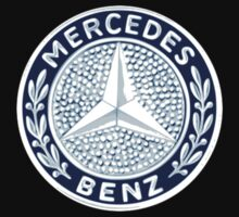 Classic Car Logos: Mercedes-Benz One Piece - Short Sleeve