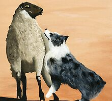 Tough Sheepdog Greeting Card by Barbara Applegate