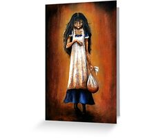 Girl with Sack Greeting Card