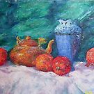 Still life with pomegranates by Julia Lesnichy