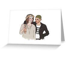 punk zayn/flower hippie harry Greeting Card