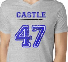 Castle 47 Jersey Mens V-Neck T-Shirt