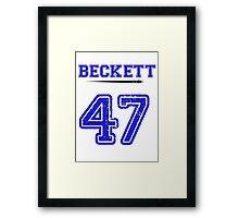 Beckett 47 Jersey Framed Print