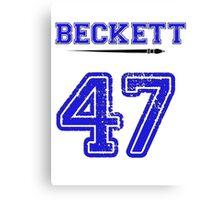 Beckett 47 Jersey Canvas Print