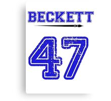 Beckett 47 Jersey Canvas Print