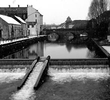 Haverfordwest, Weir in Winter by WILT