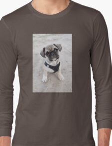 Cute puppy looking up Long Sleeve T-Shirt