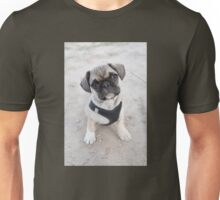Cute puppy looking up Unisex T-Shirt