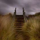 Beach steps by John Ellis