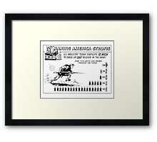 Making America Strong Cartoon -- WW2 Framed Print